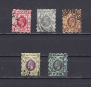 HONG-KONG-1912-Sc-111-119-CV-30-part-set-Wmk-3-039-George-V-039-Used
