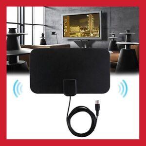 ANTENNE-D-039-INTERIEUR-TV-TERRESTRE-TNT-HD-AMPLIFIER-AMPLI-ULTRA-FINE-VHF-UHF-FM