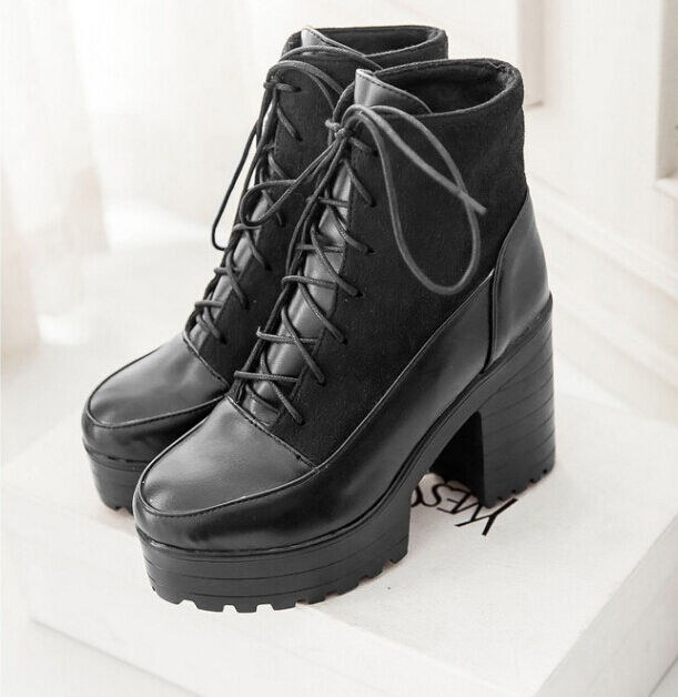 Stiefel winter hoch komfortabel damenschuhe absatz absatz absatz 9 cm schwarz 8749 c5d1f8