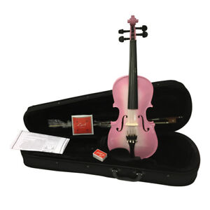 Zest-Debutant-Du-Violon-en-Rose-Metallique-en-3-Sizes-3-4-1-2-1-4-Avec