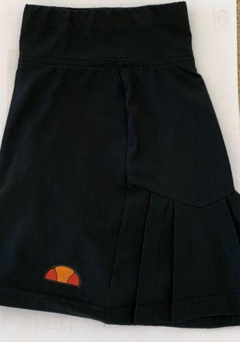 FRANSCESCA BLACK Side Pleated Tennis SKIRT ALL SIZES Ellesse Ladies