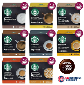 Details About Dolce Gusto Starbucks Coffee Capsules 8 Flavours To Choose From 3 X 12 Pods
