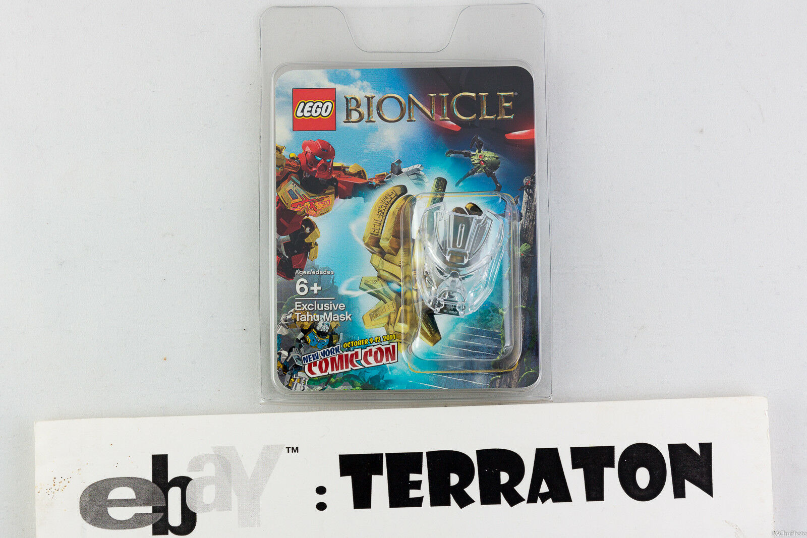 Lego Bionicle TAHU CLEAR Mask 1 1500 1500 1500 2014 New York Comic Con NYCC Exclusive RARE 9ca472