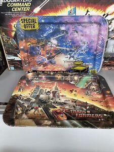 Vintage 1984 Hasbro Transformers Metal TV Lap Tray Optimus Prime Sealed Lot Of 2