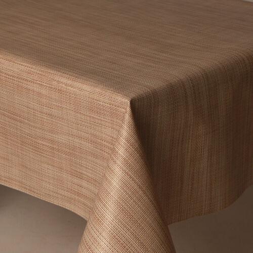 Streifen PVC Vinyl Tischdecke Einfache Creme natürliche modern Abwischen strukturierte fähig IHtwnOqx6F