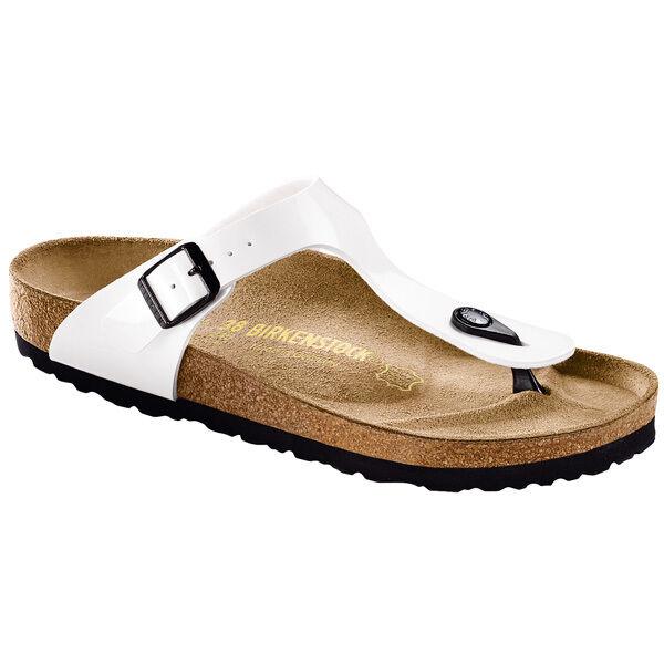 Birkenstock Gizeh Birko-flor charol señora tira dedo sandalia ancho 543761 normal