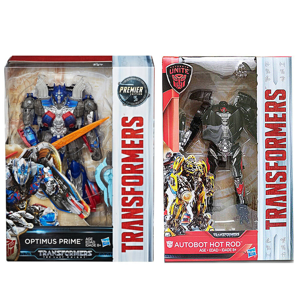 Transformers Last Knight Premier Edition Voyager Optimus + Deluxe Hot Rod