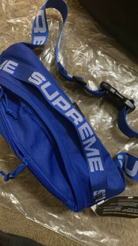 Supreme SS18 Blue Waist Bag Fanny Pack Cordura