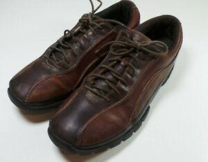 rockport xcs men's brown leather oxford walking shoe size