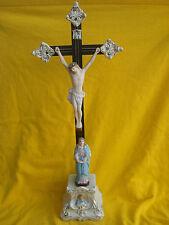 Alter Jesus am Kreutz mit Maria ......  Bisquitporzellan
