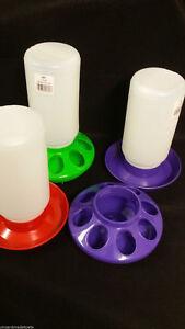 Little Giant 1 Quart Poultry Chick Plastic feeder & Water Set or Mason Jar Base