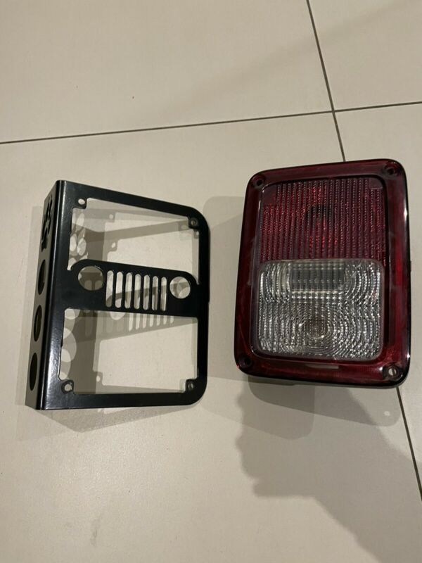 Jeep wrangler JK tail lights and cover