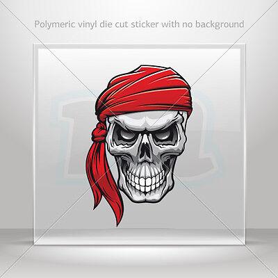 Sticker Decal Skull Pirate Helmet Motorbike Bike vinyl bike st5 X562W