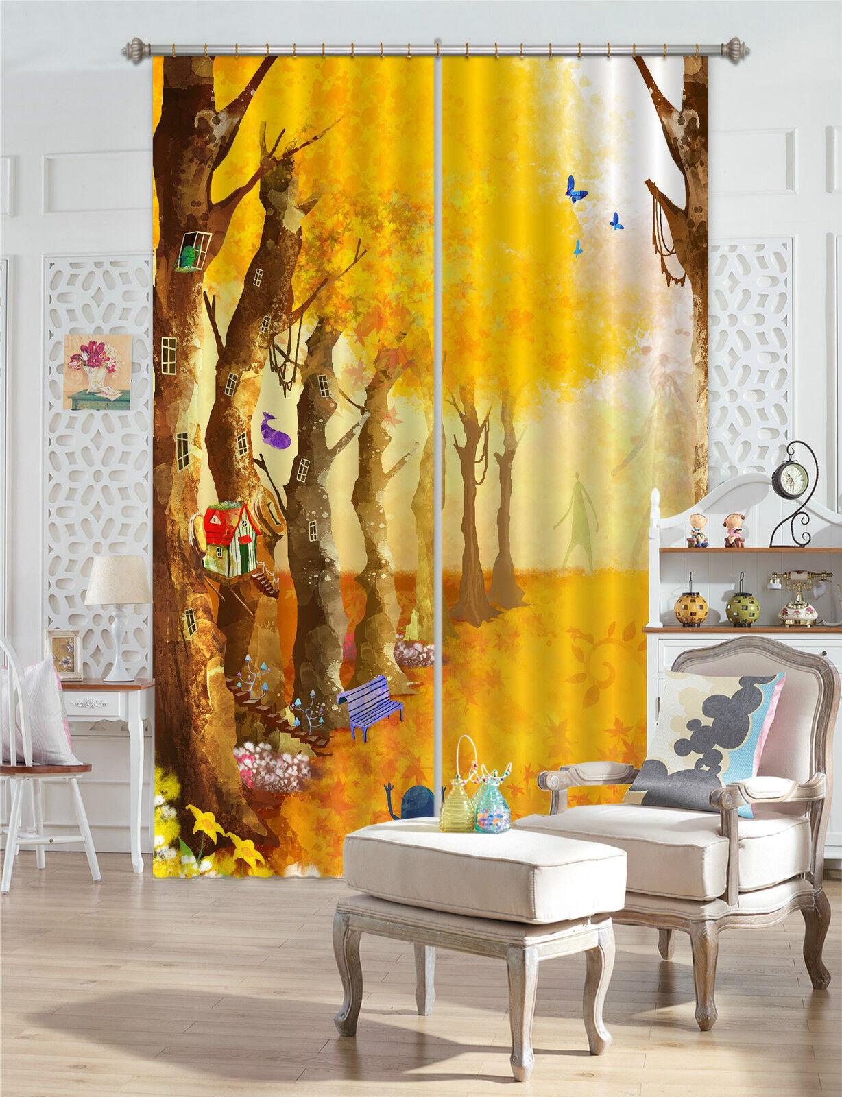 3d casa del árbol 675 bloqueo foto cortina cortina de impresión sustancia cortinas de ventana