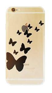 Coque gel souple incassable motif fantaisie pour iPhone 6 PLUS ( Papillon )