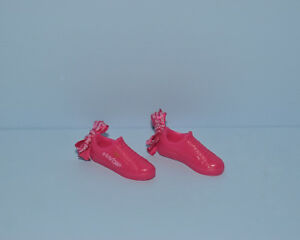 BARBIE DOLL  MADE TO MOVE PUMA PINK BOW FLAT FOOT DESIGNER TENNIS SHOES