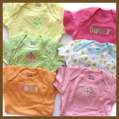 Gerber baby boy girl unisex short sleeve Onesie bodysuit one piece 2/6/7pc set