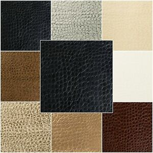Crocodile-Vinyl-Faux-Leather-Fabric-Prints-Animal-Skin-Upholstery-54-034-Width