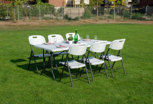Gartenmöbel Sitzgruppe Gartenset 7-teilig Tisch klappbar Klappstuhl Garnitur