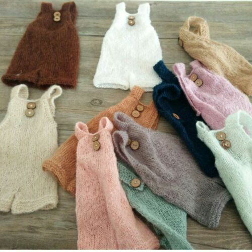 Newborn Photography Props Knitted Romper Soft Mohair Baby Boy Girl Handmade Suit