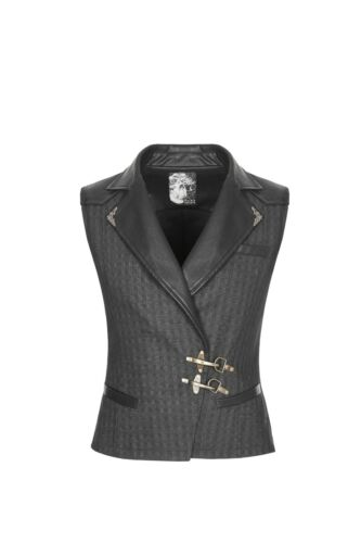 Punk Rave WY-929  Men Steampunk Gothic Leather Brown and Black Buckles Waistcoat
