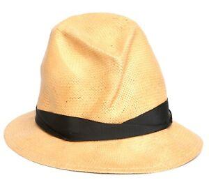 86508f0a Rag & Bone Womens Black Natural Paper Straw Hat Sz L 1591 | eBay
