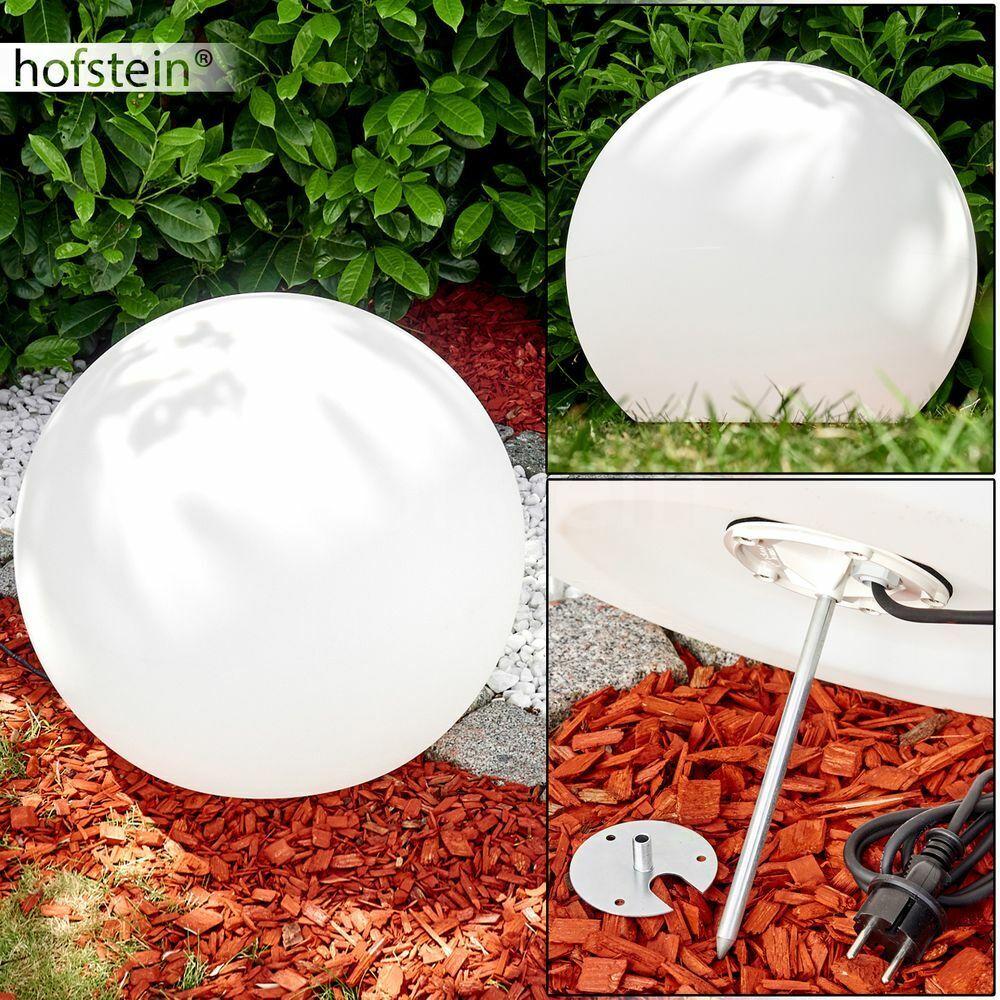 Wege Garten Terrassen Beleuchtung Kugelleuchte 60 cm Aussen Steh Lampen weiß