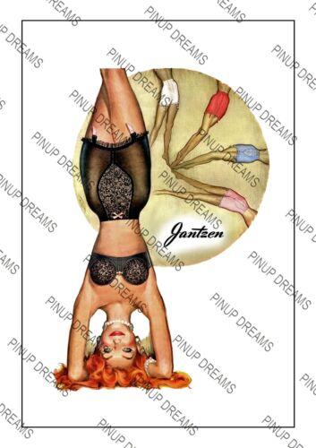 """Vintage Poster Retro Art /""""Jantzen/"""" Girdle Lingerie Advert re-print Various A4 A3"""