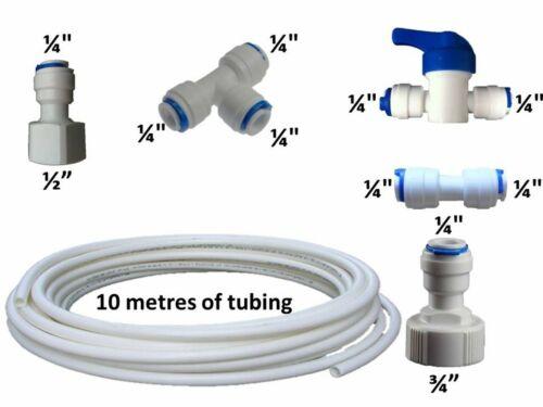 10 METRI Kit di collegamento del tubo flessibile e accessori American Style Universale Filtro frigo