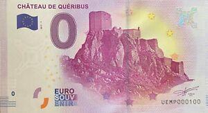 BILLET-0-EURO-CHATEAU-DE-QUERIBUS-FRANCE-2017-NUMERO-100
