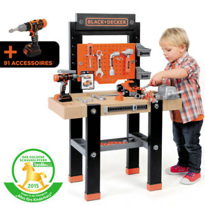Black-Decker-Spielzeug-Werkbank-Center-Kinder-Werkbank-Kinderwerkzeug-Werkstatt