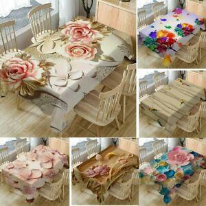 Home-Decor-Tablecloth-ORIGINALITY-3D-Flower-Rectangular-Tea-Table-Cover-140x80cm