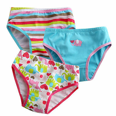 """Vaenait Baby Kids  Brief Short Underwear Girls Pantie Set /""""Love elephant/"""" 2T-7T"""