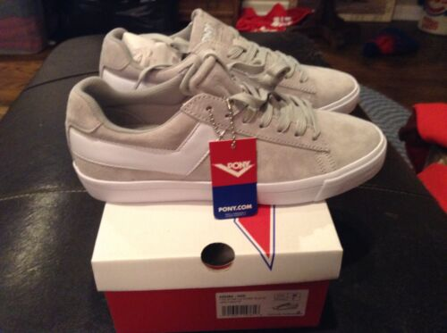 Women's SZ 8 Cool Details about  /NIB PONY Top Star Lo Core Suede Grey//White Shoes