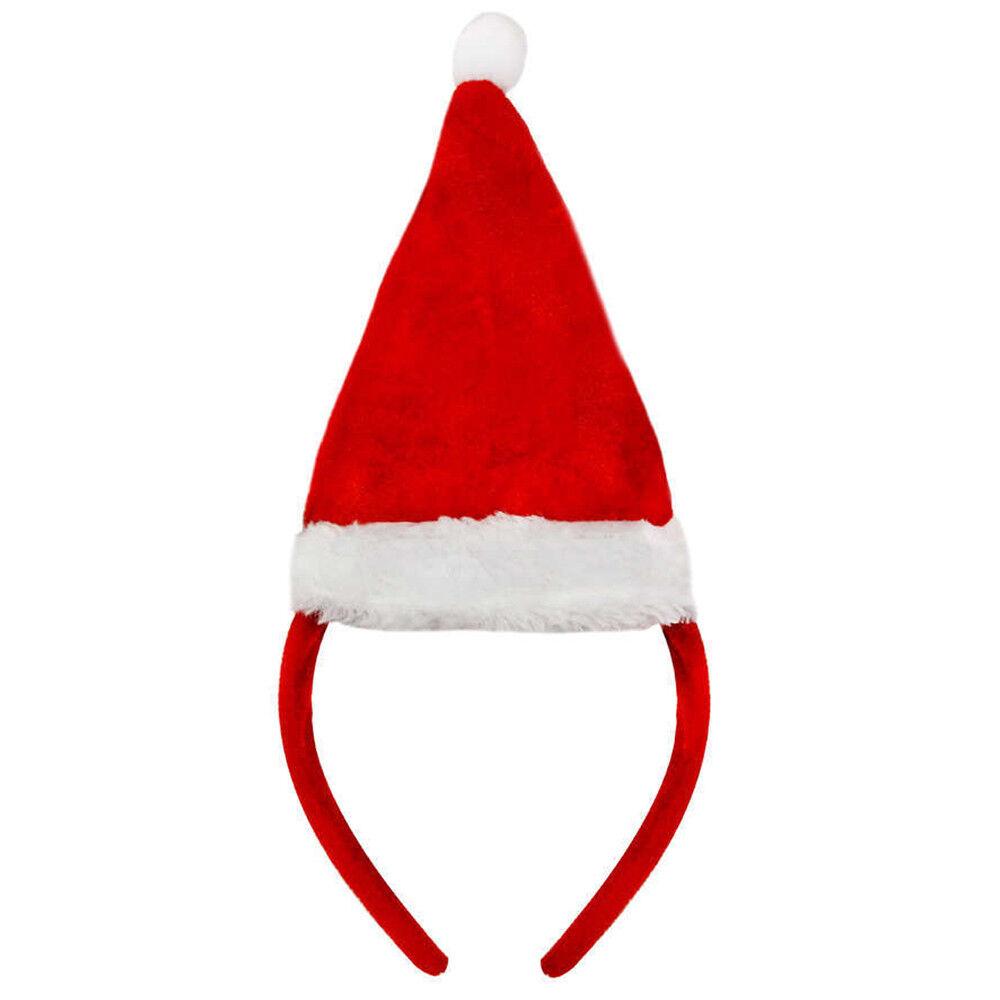 Agressif Mini Chapeau Santa De Noël Rouge / Blanc Peluche Xmas Mesdames Robe Fantaisie Nettoyage De La Cavité Buccale.