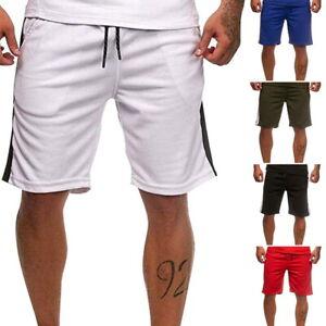 Mens-Casual-SHORTS-TRACK-STRIPE-Training-Gym-Soft-Summer-Pants-Drawstring