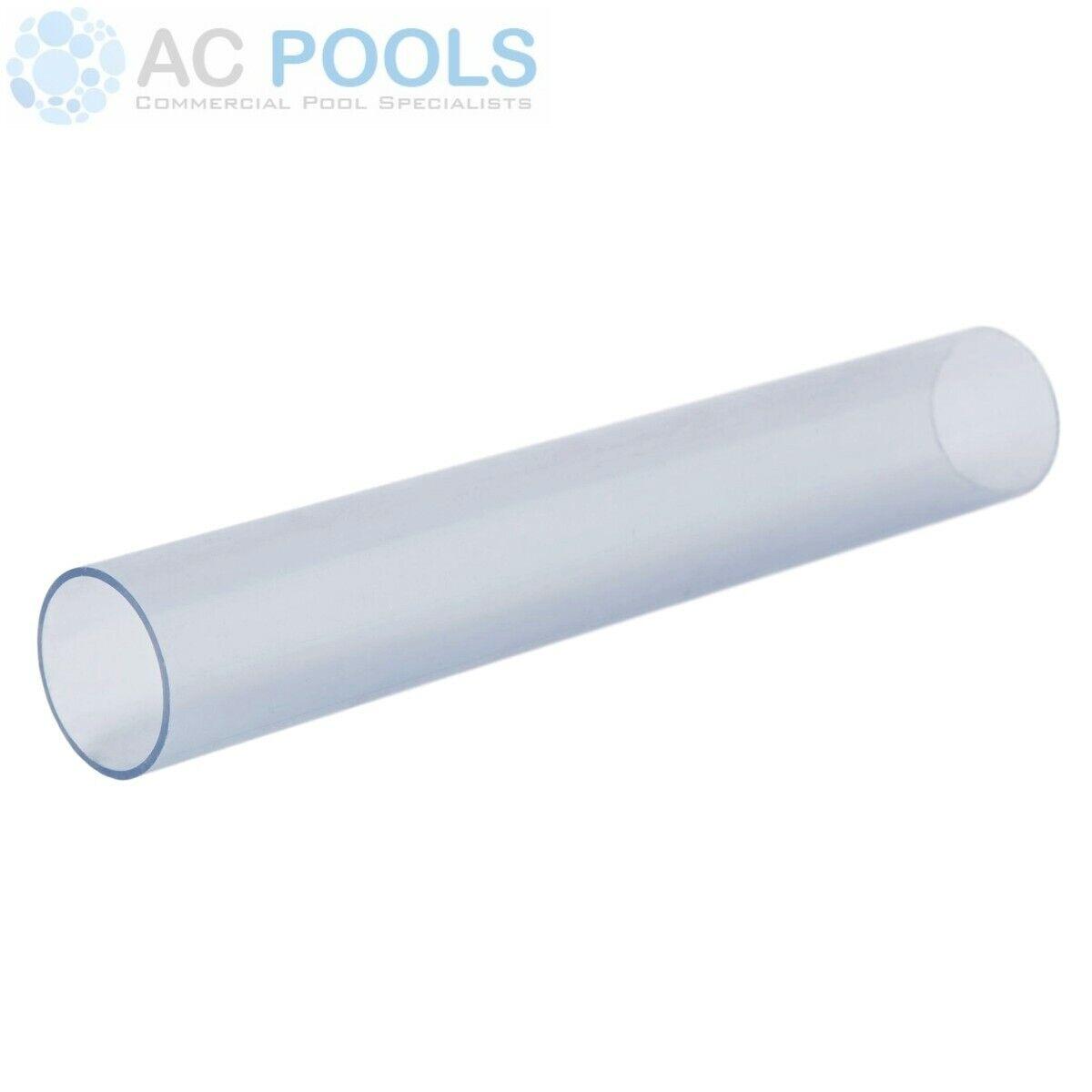 Clear PVC Pressure Pipe 200mm (500mm Length) Rigid