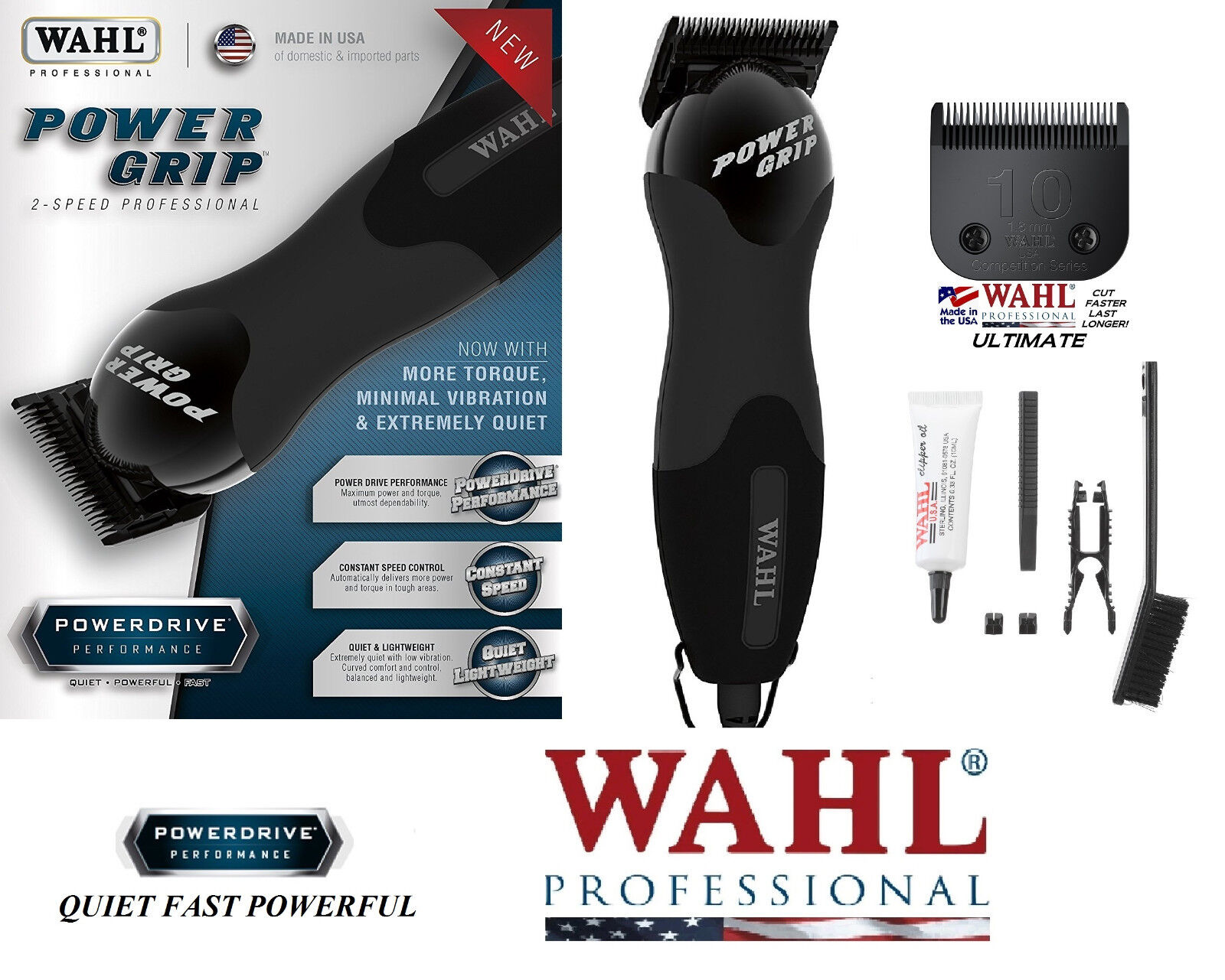 Wahl SUPER DUTY 2-SPEED CLIPPER&ULTIMATE Blade SETPet Dog Horse Grooming