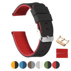 20mm 22mm Silikon Watch Band Rubber Ersatz Bands Watch Strap W/pin Schnalle SchüTtelfrost Und Schmerzen