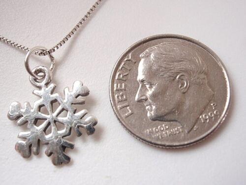 Very Small Snowflake Pendant 925 Sterling Silver Corona Sun Jewelry