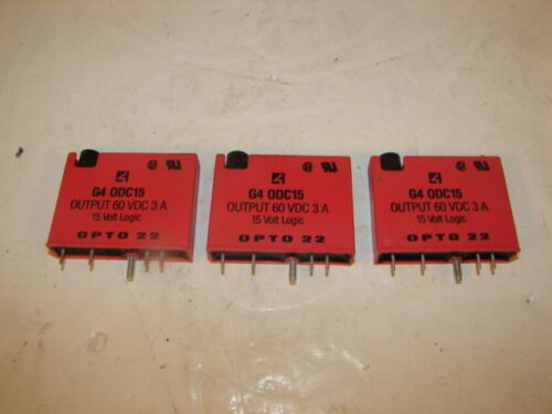 OPTO 22 G4-0DC15 SWITCHING OUTPUT MODULE LOT OF 3 ***XLNT***