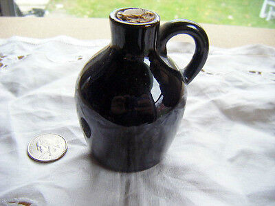 "Antiques Minature Redware Handled Jug Lustre Glaze Mint Condition 3.5"" By 3"" Big Clearance Sale Jugs"