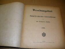 Sachsen 1891 Verordnungsblatt