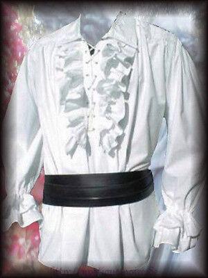 Victorian Frilled Shirt black or white Edwardian Steampunk Wedding