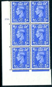 1941 2½d Light Ultramarine Cylinder 250 dot UNMOUNTED MINT V75450