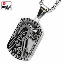 """Lady Of Gudalrupe Stainless Steel Dog Tag Virgin Mary Pendant 24"""" Chain SCP 149S"""