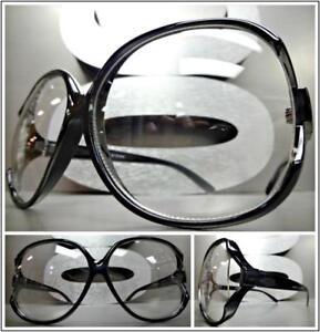1d12a222e3d Image is loading OVERSIZED-VINTAGE-RETRO-Style-Clear-Lens-EYE-GLASSES-