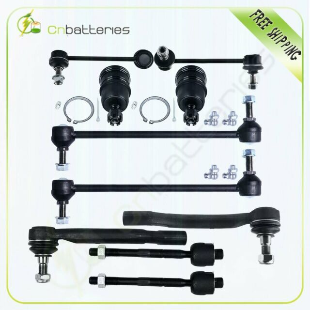 10pc Front & Rear Steering Parts Ball Joint For 2001-2005