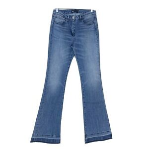 3X1 NYC Women Size 28 Released Hem Flare Jeans Blue High Rise Bell Armada Wash