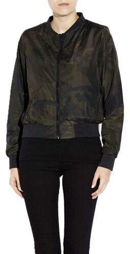 New Ladies Plus Size MA1 Harrington Padded Coat Camo Bomber Jackets 8-16